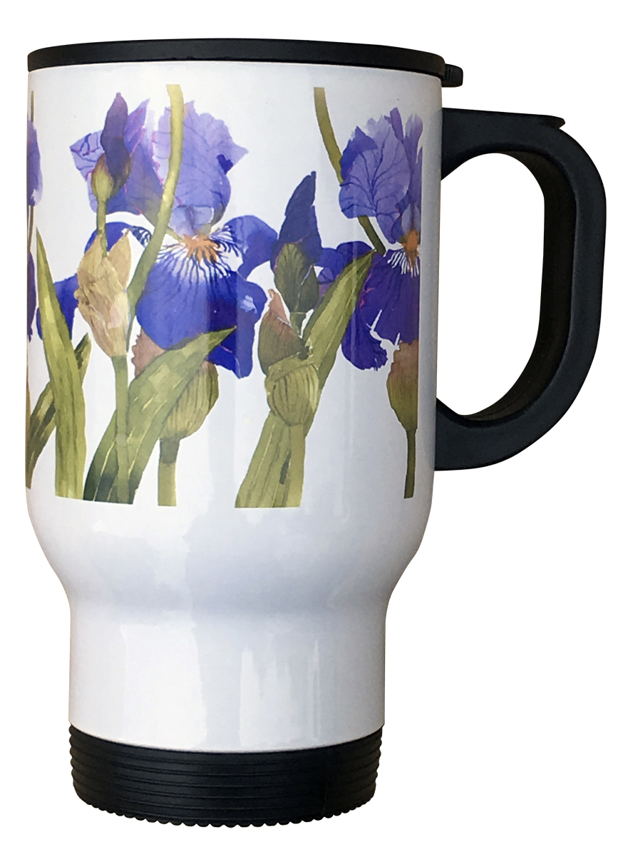 Travel Mug- Bearded Iris image