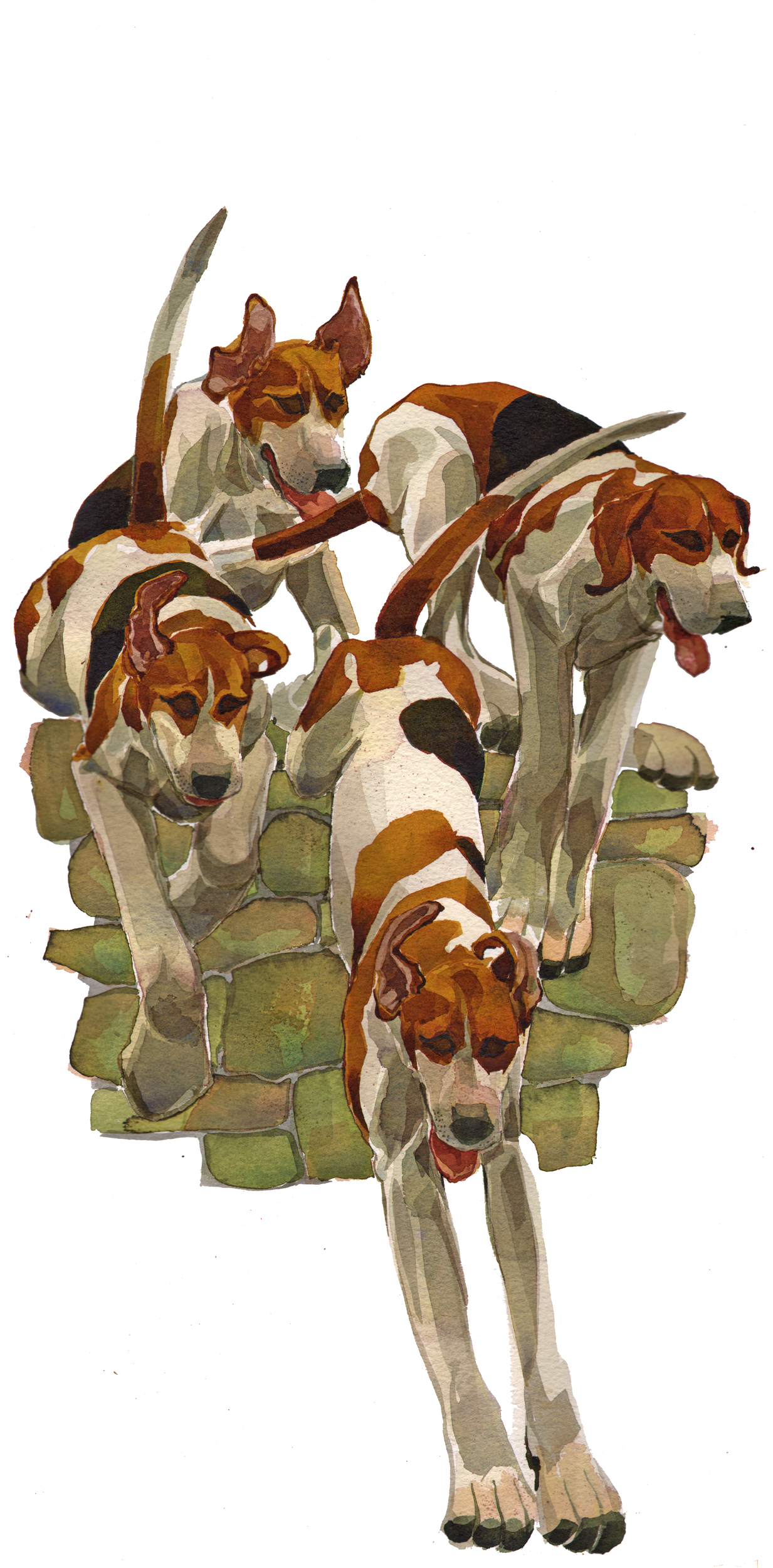 Hounds, over the wall, SOLD  image
