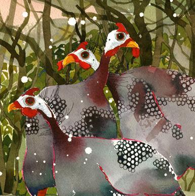 Guinea Fowl, Snow Q12 image