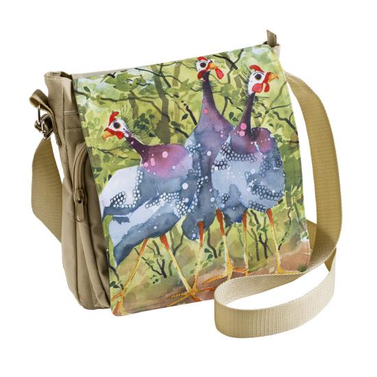 SOLD OUT Messenger bag, GUINEA FOWL.  image
