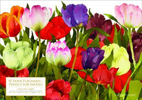 Paper placemats, Tulips image