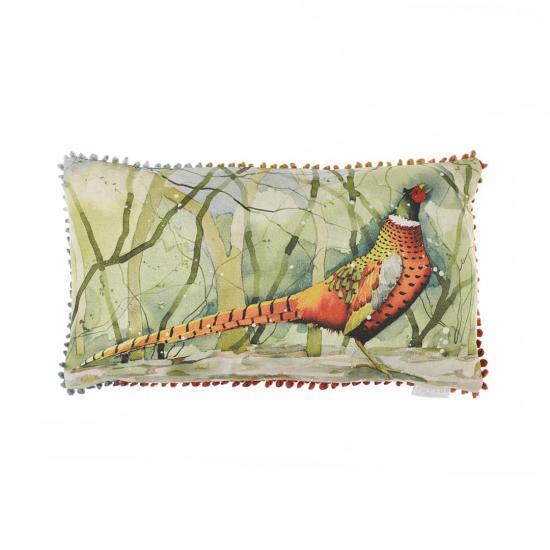 Cushion, Calling Pheasant, image