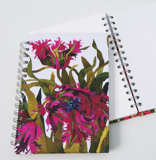 Journal, Black Parrot Tulips image