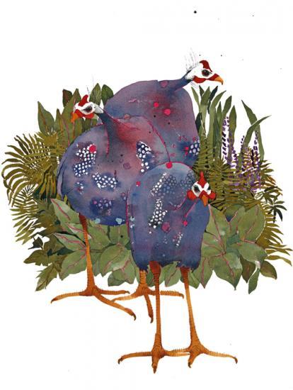 Guinea Fowl I SOLD image