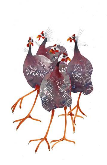 Guinea Fowl III  SOLD image