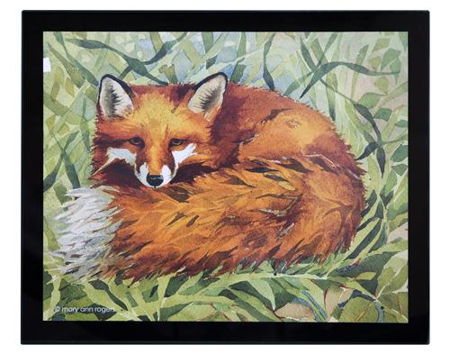 Glass Placemats, set of 4, Fox image