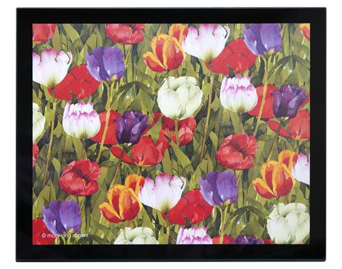 Glass Placemats, set of 4, Tulips image