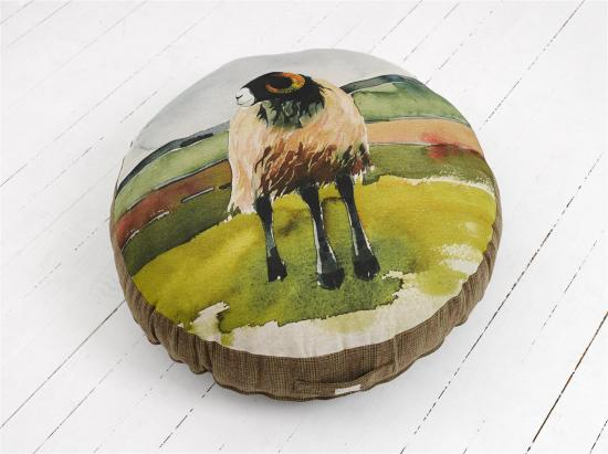FLOOR CUSHION  Moorland ram, large image