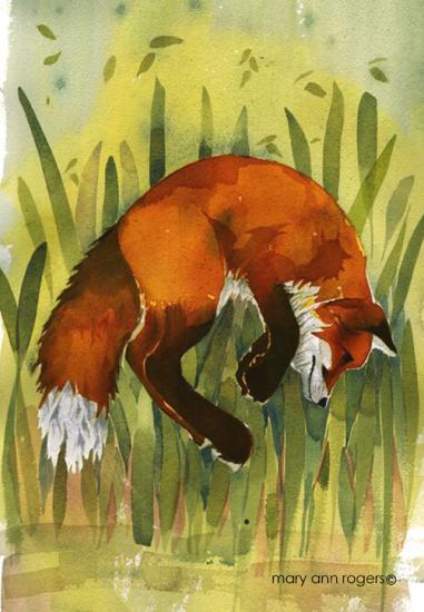 Kindle case, Pouncing Fox image