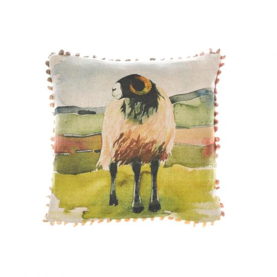Mini cushion, Moorland Ram image