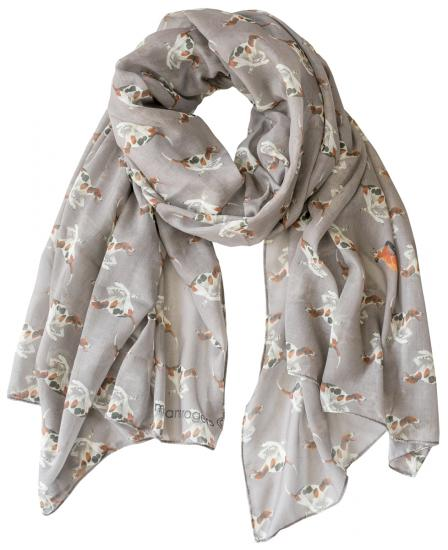 Casual Scarf, Fox & Hounds - Mushroom/grey image