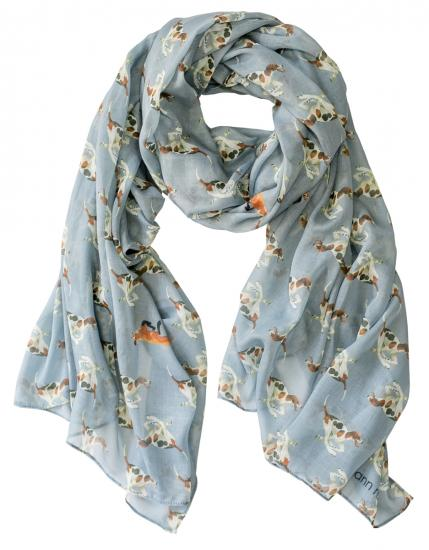 Casual Scarf, Fox & Hounds - blue image