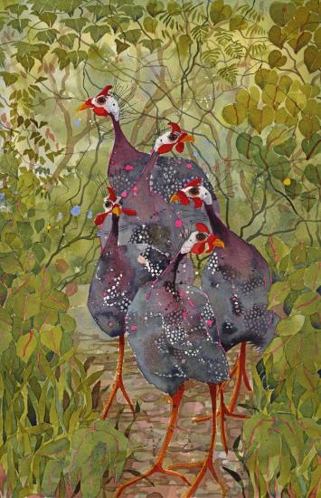 Guinea Fowl x five SOLD image