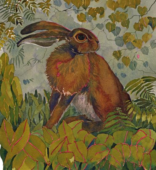 Hare in the Garden, SOLD New image