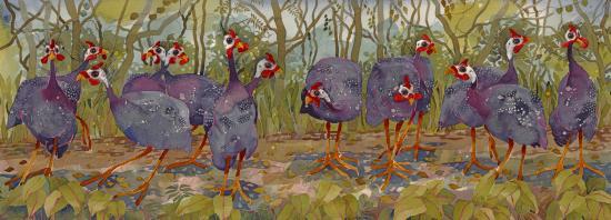 Guinea Fowl Flock image