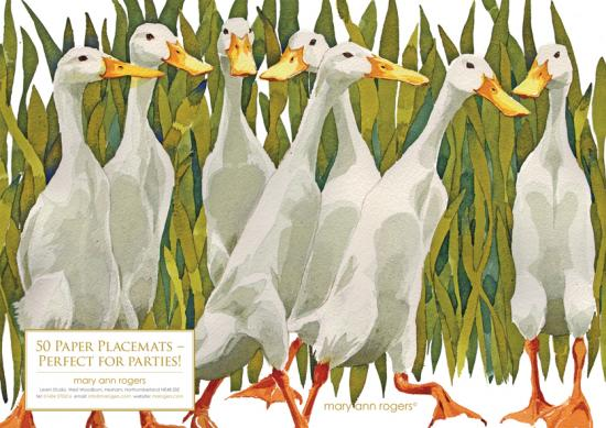 Paper Placemats Indian Runner Ducks image