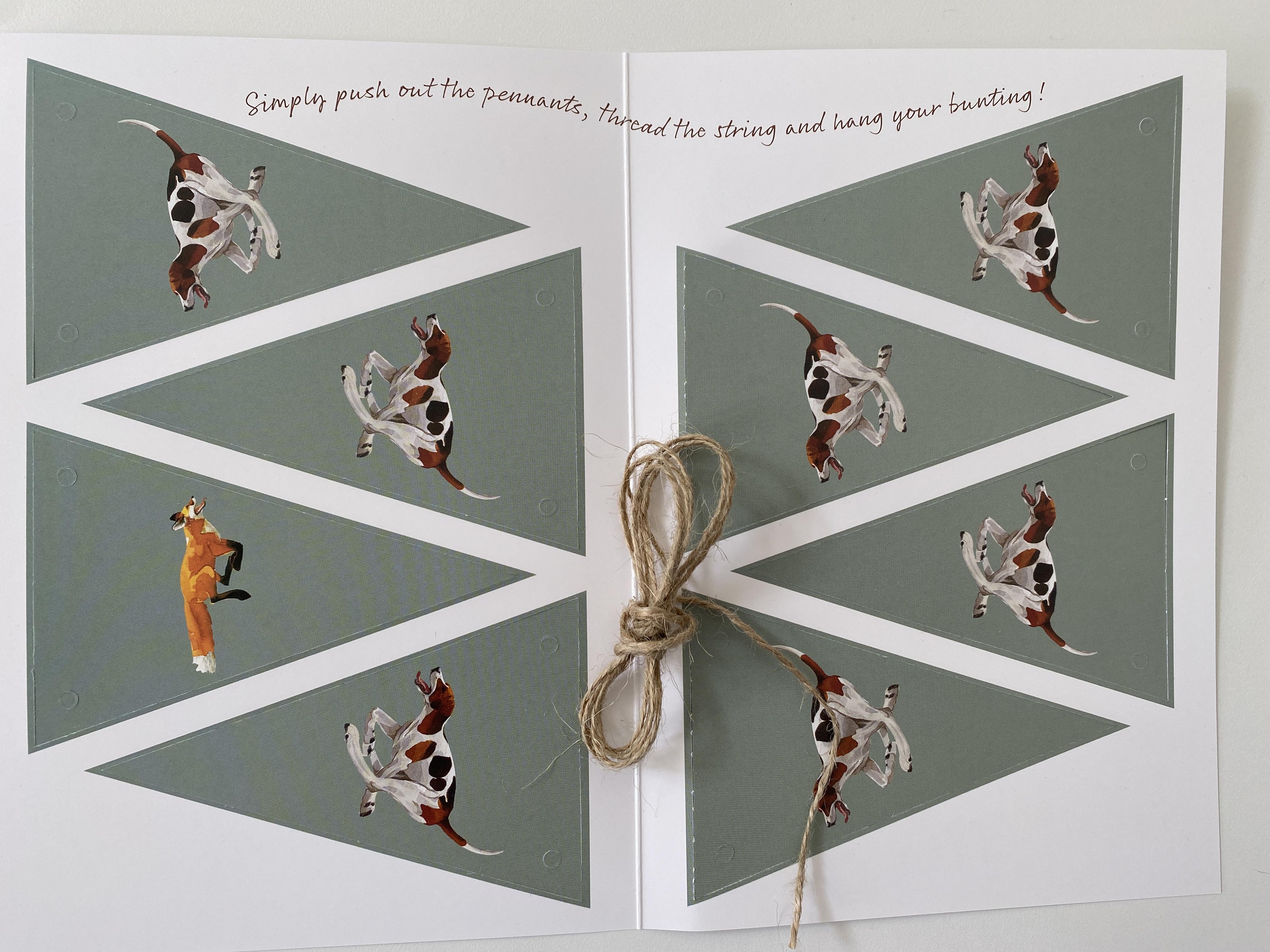 Bunting Card- 'Hunting Bunting' image