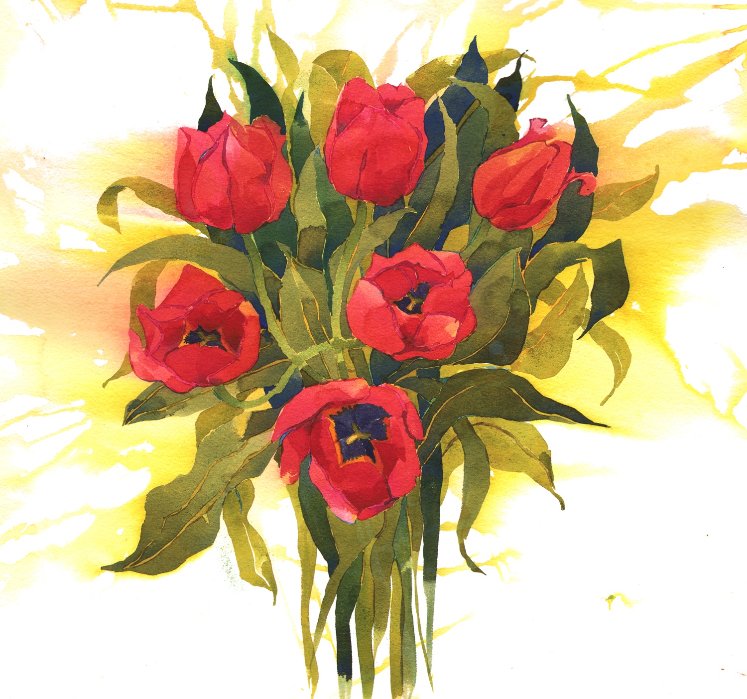 Red Tulip Bouquet, New image