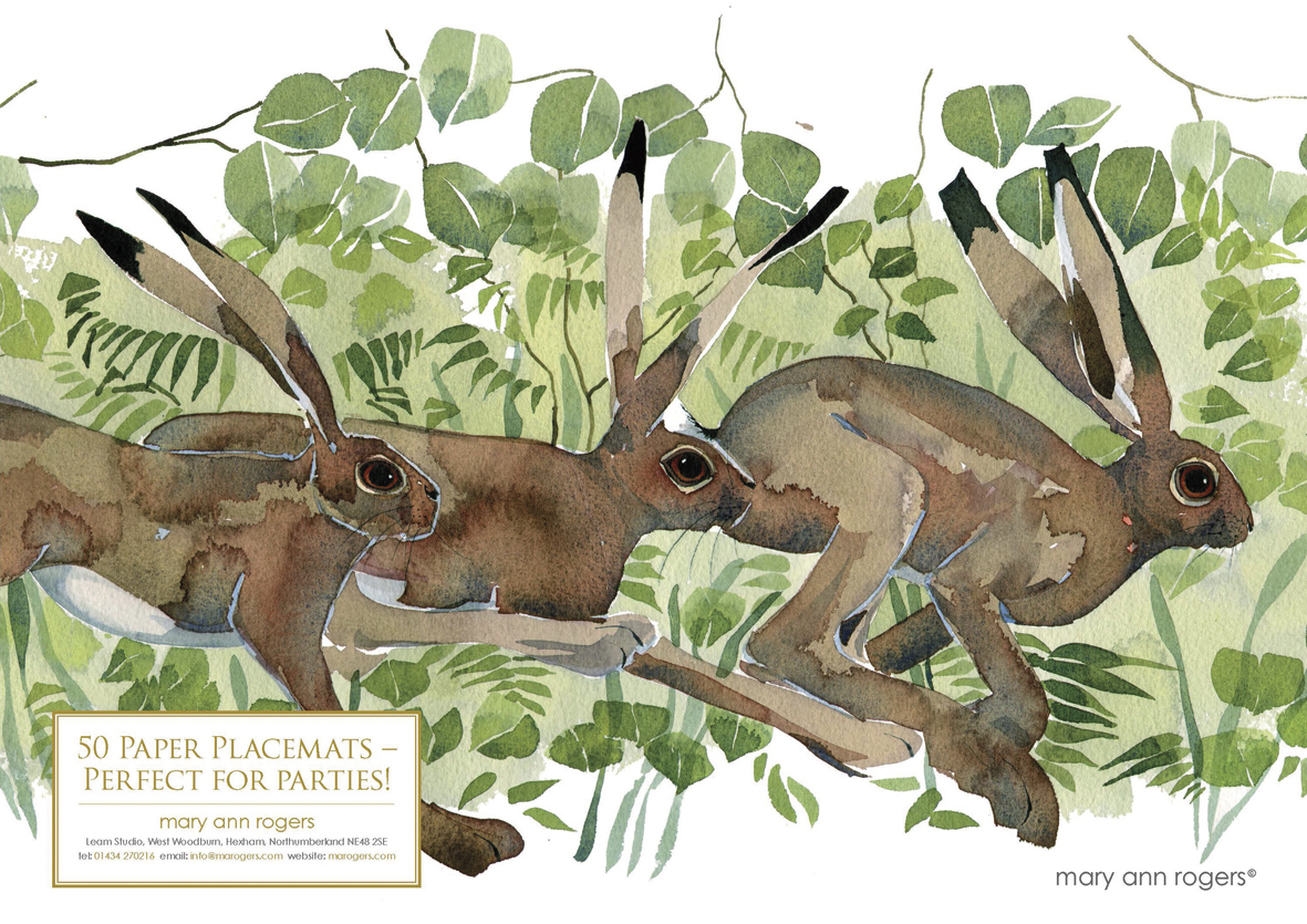 Paper Placemats, Hares image