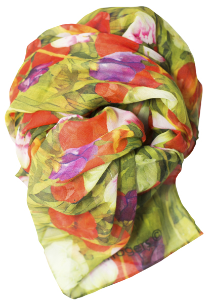 Casual Scarf, Tulips image