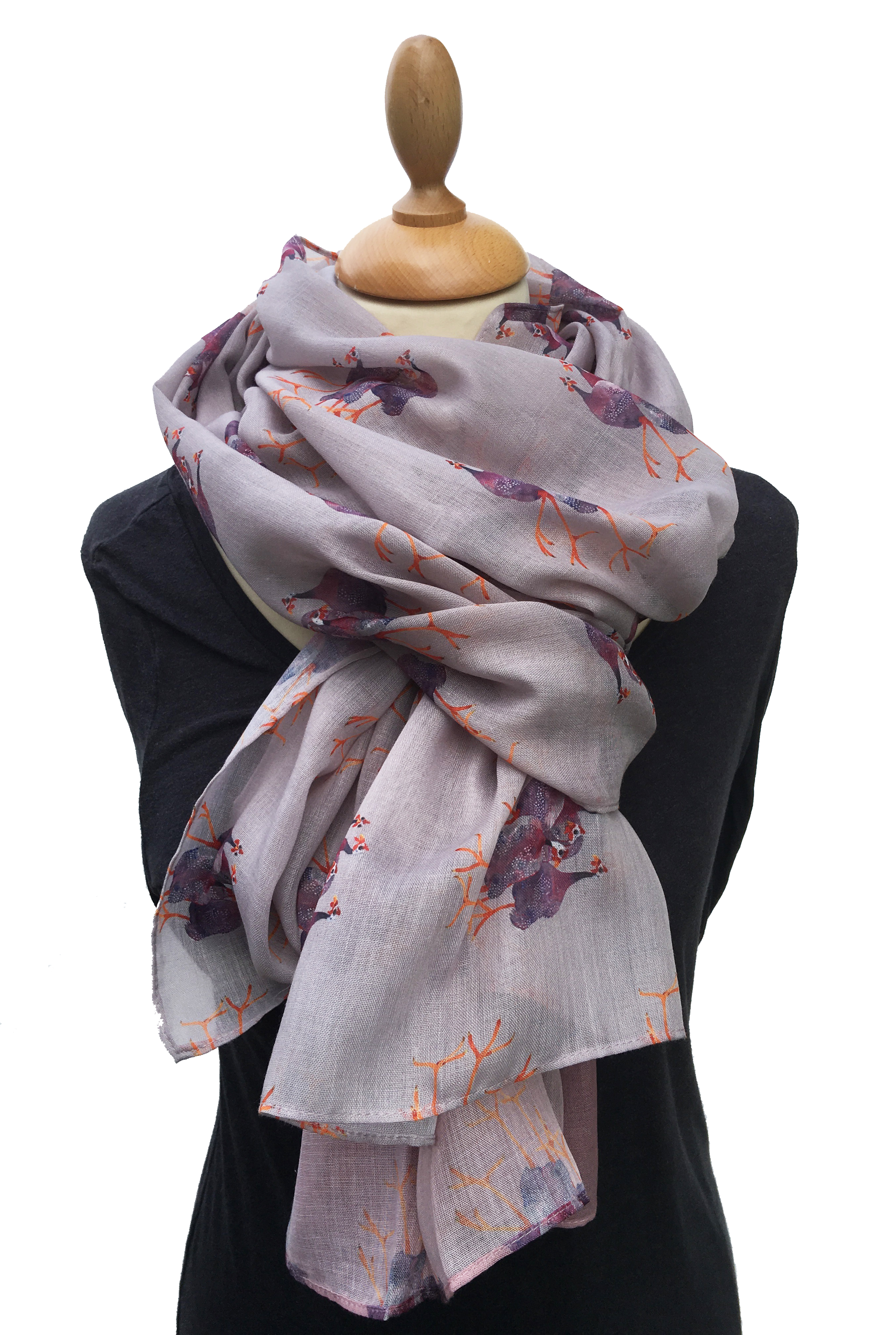 Casual Scarf, Guinea Fowl New!!! image