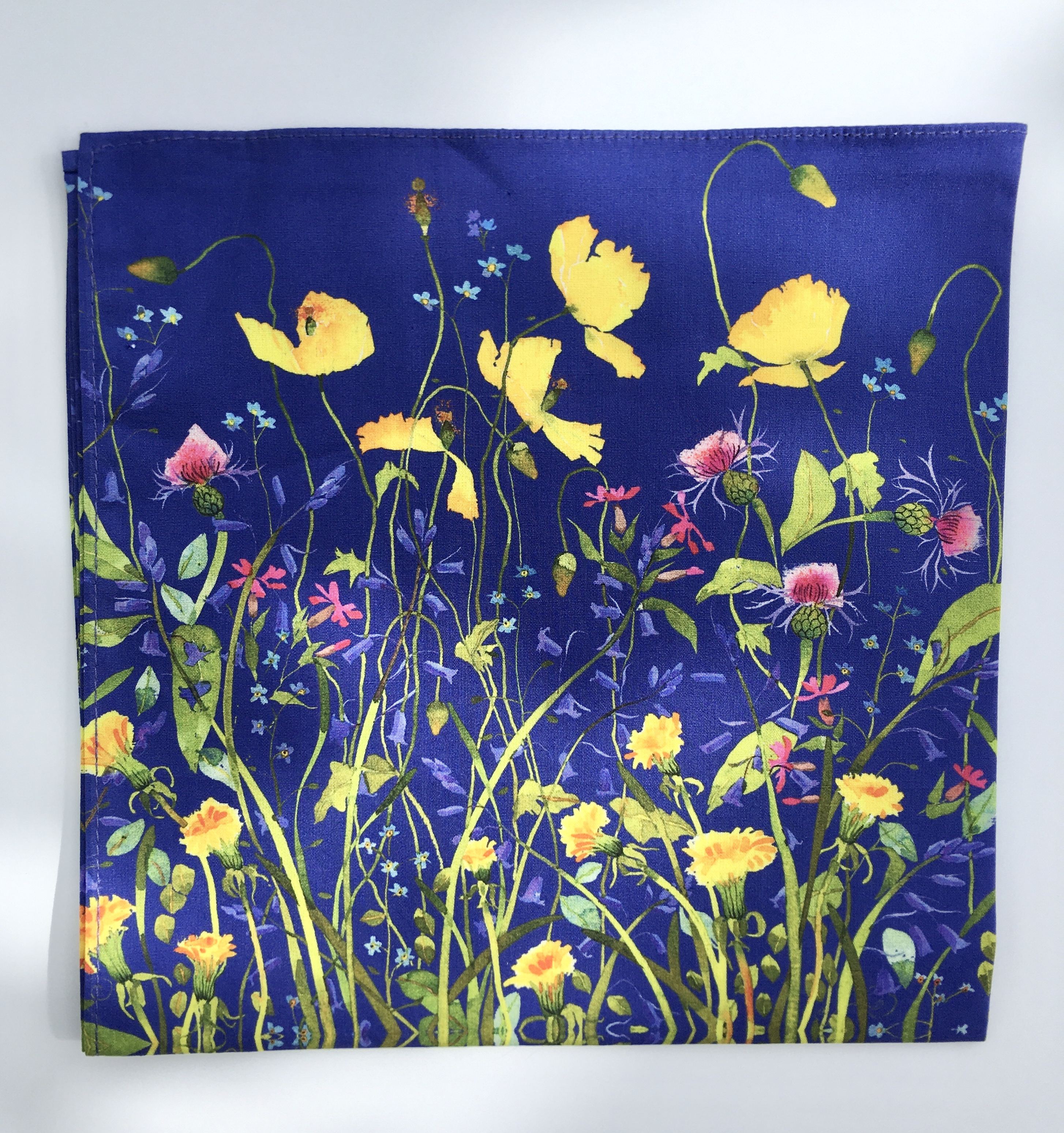 Handkerchief- Blue Flowers image