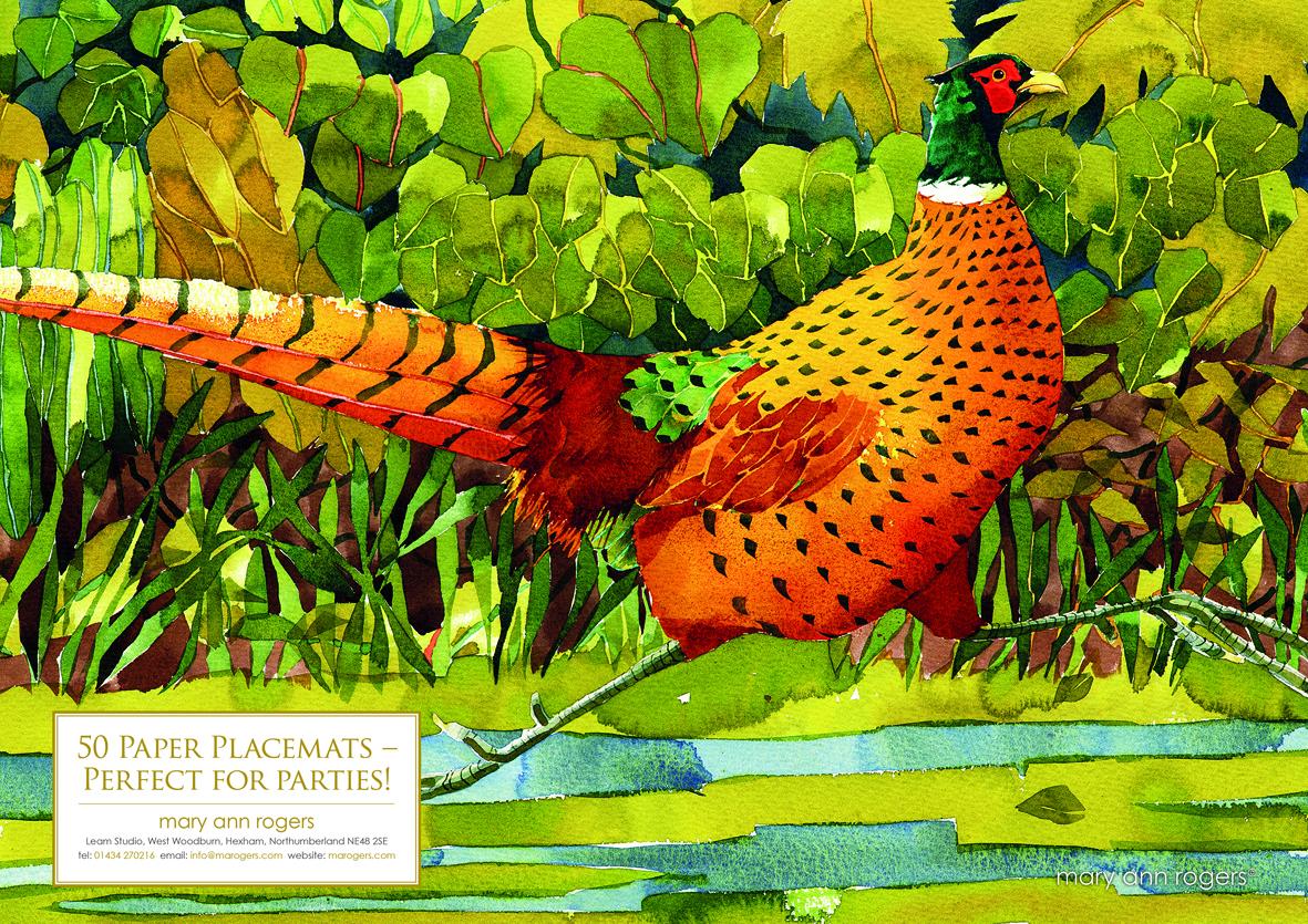 Paper Placemats, Pheasant image