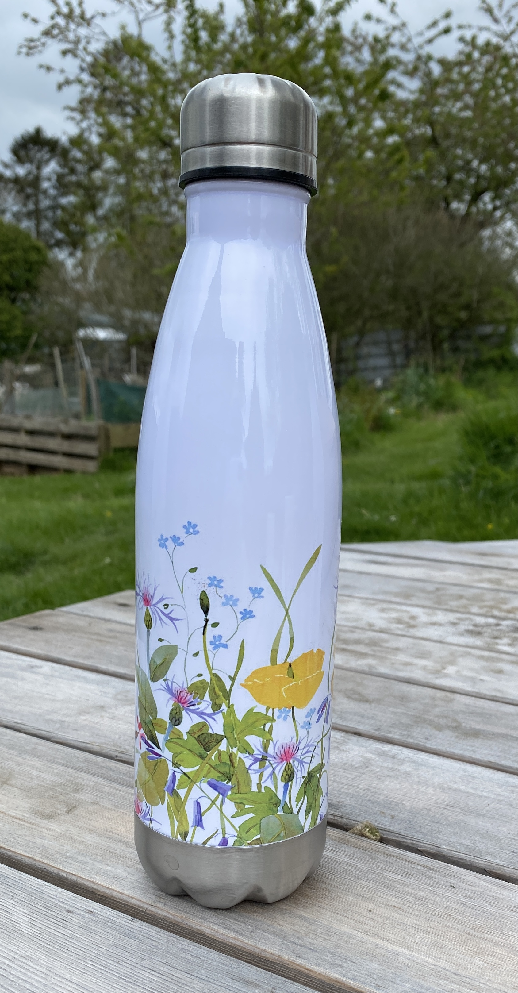 Stainless Steel Drinking Bottle - Spring Flowers image