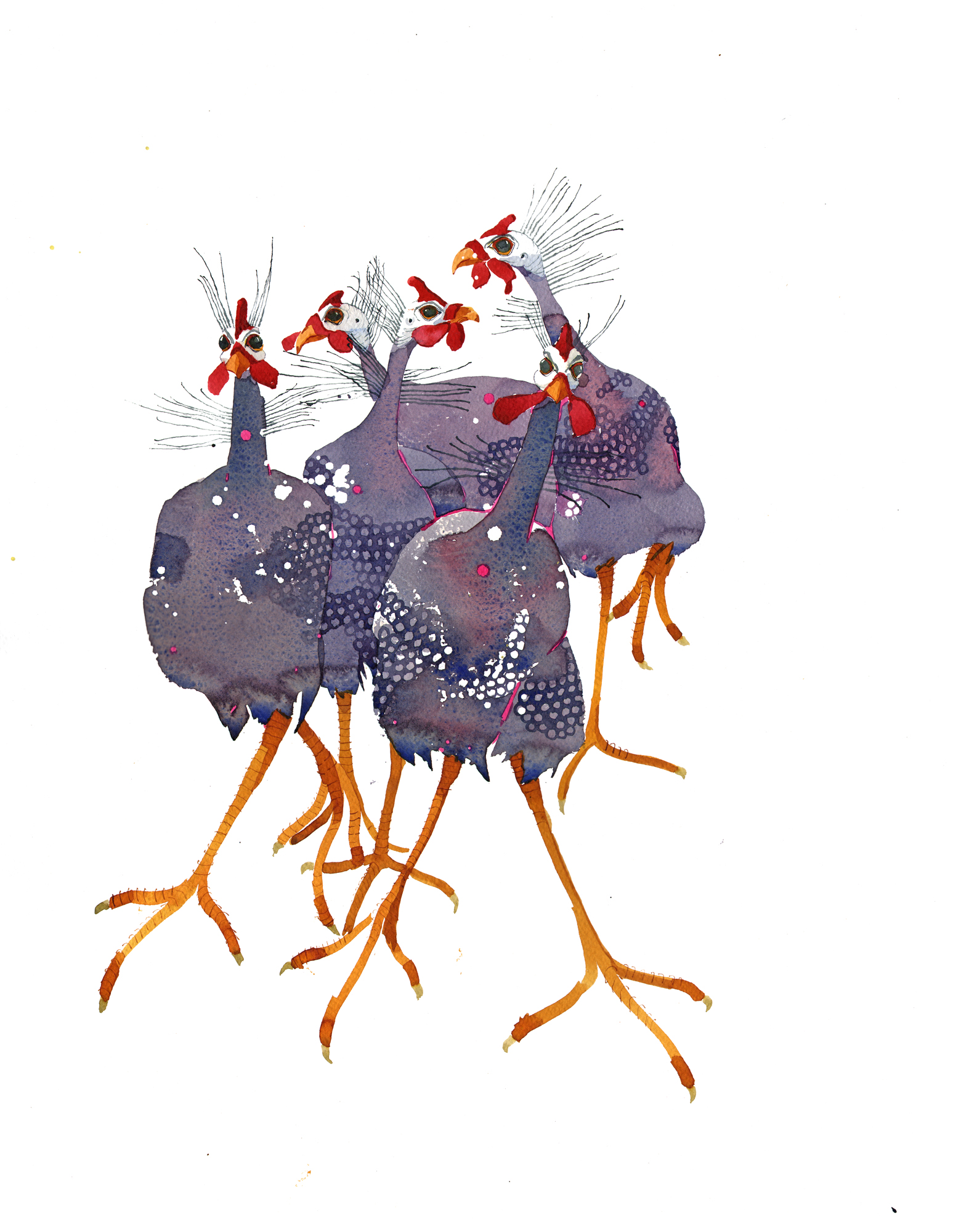 Quirky Guinea Fowl SOLD image