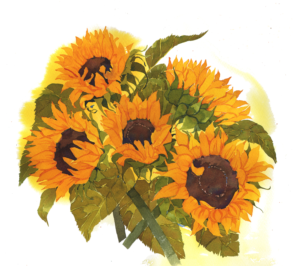 Mouse Pad, Sunflowers image