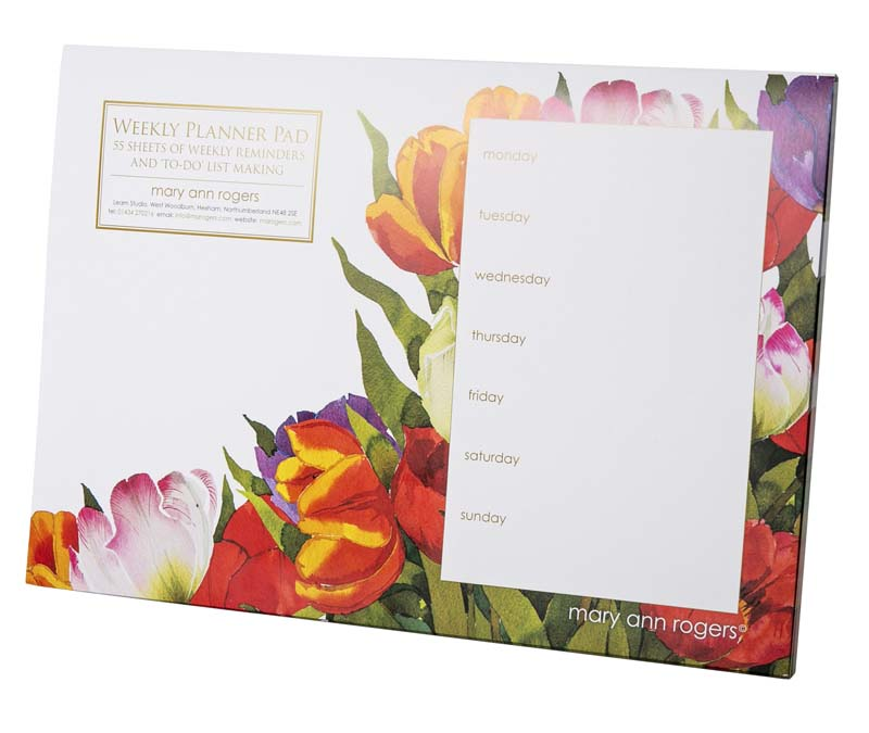 Weekly Planner pad, Tulips image
