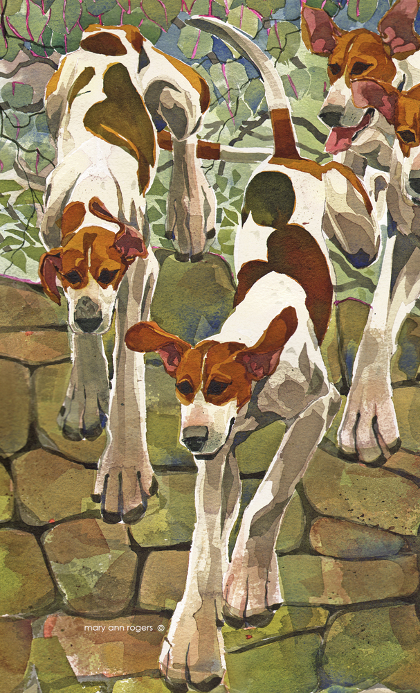 iPhone Case, Hounds over the Wall image