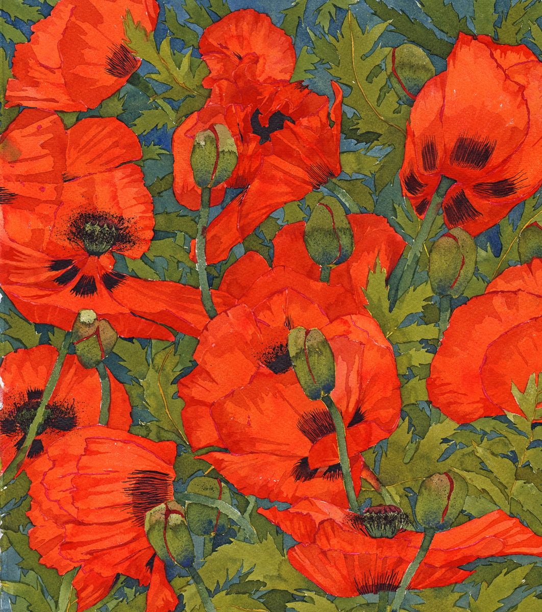 Oriental Poppies II SOLD image