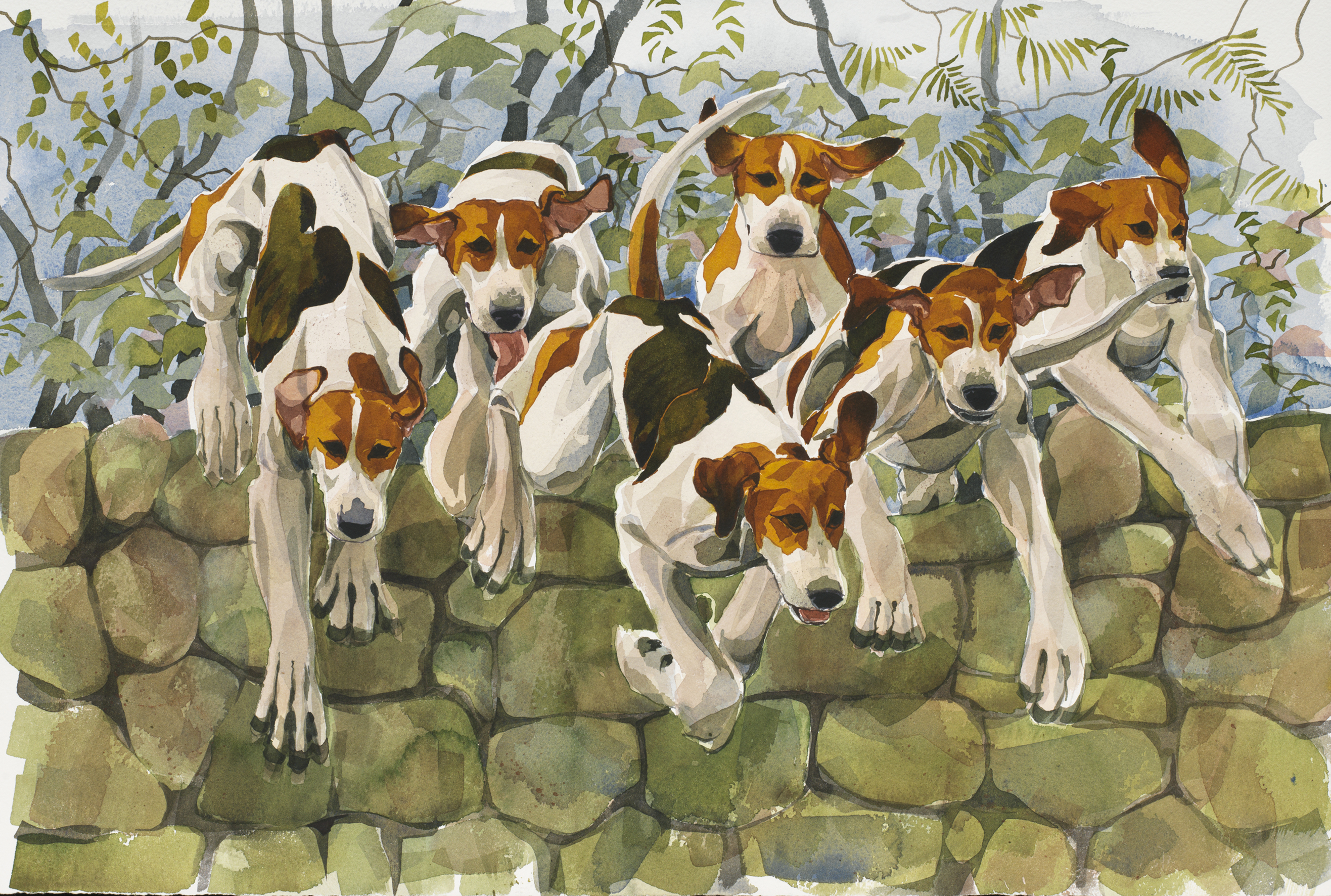 Hounds up & Over, New SOLD image