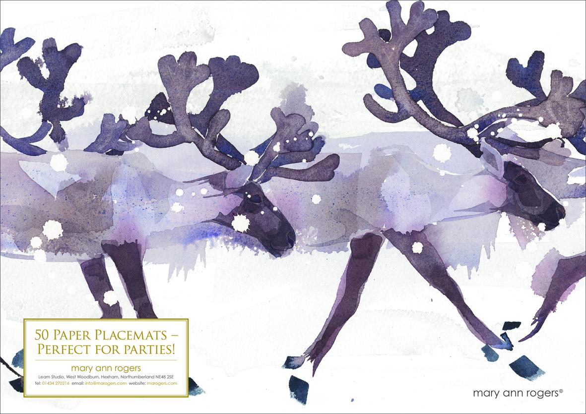 Paper Placemats, Reindeer image