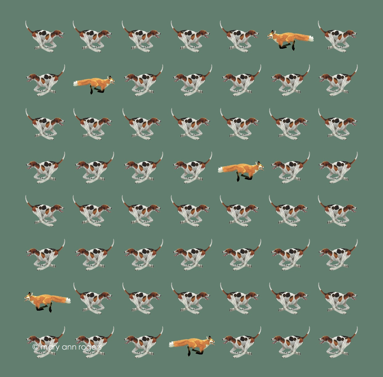 Handkerchief- Fox & Hounds image