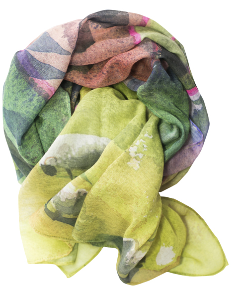 Casual Scarf, Hills and Trees image