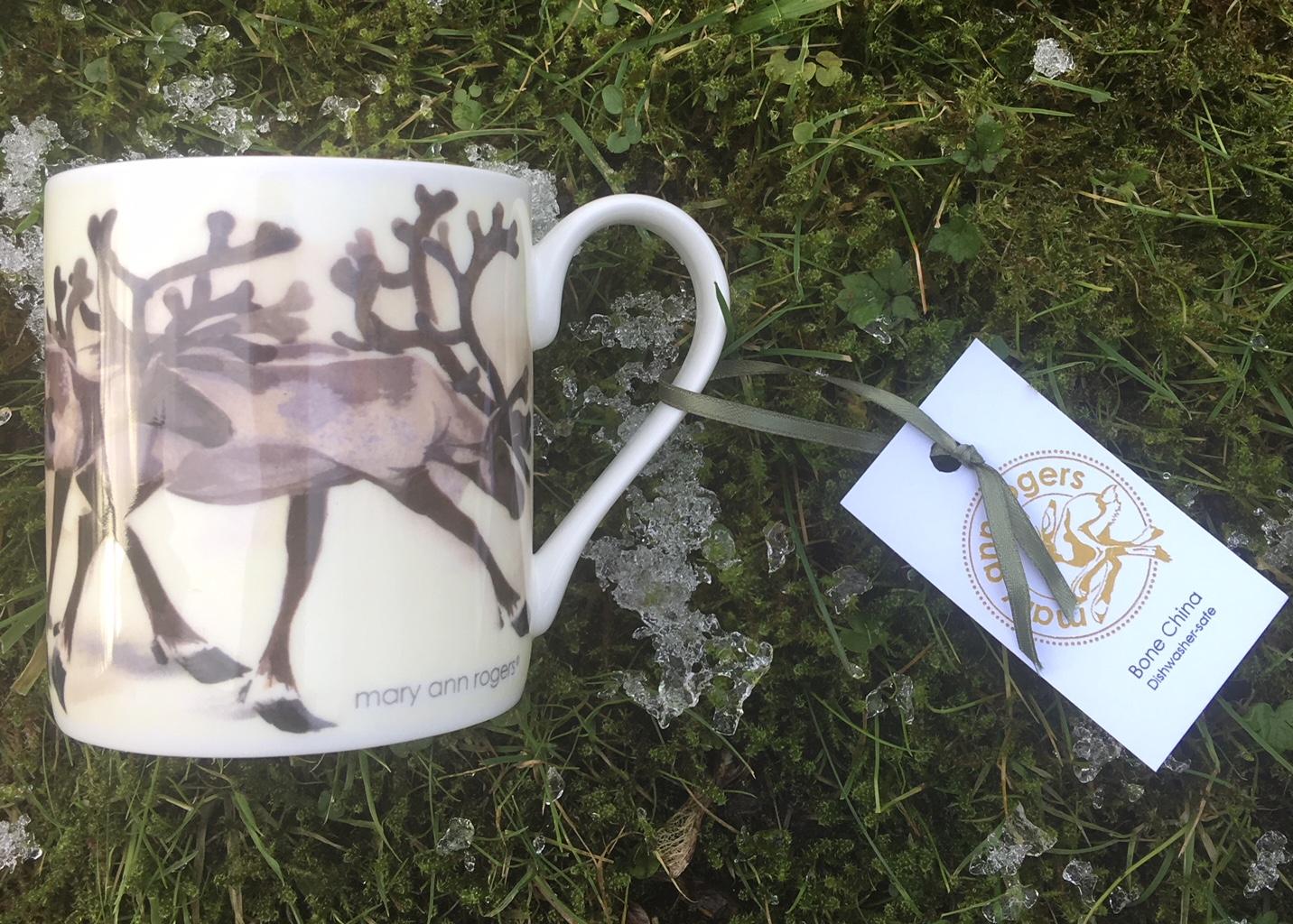 Mug, Reindeer image