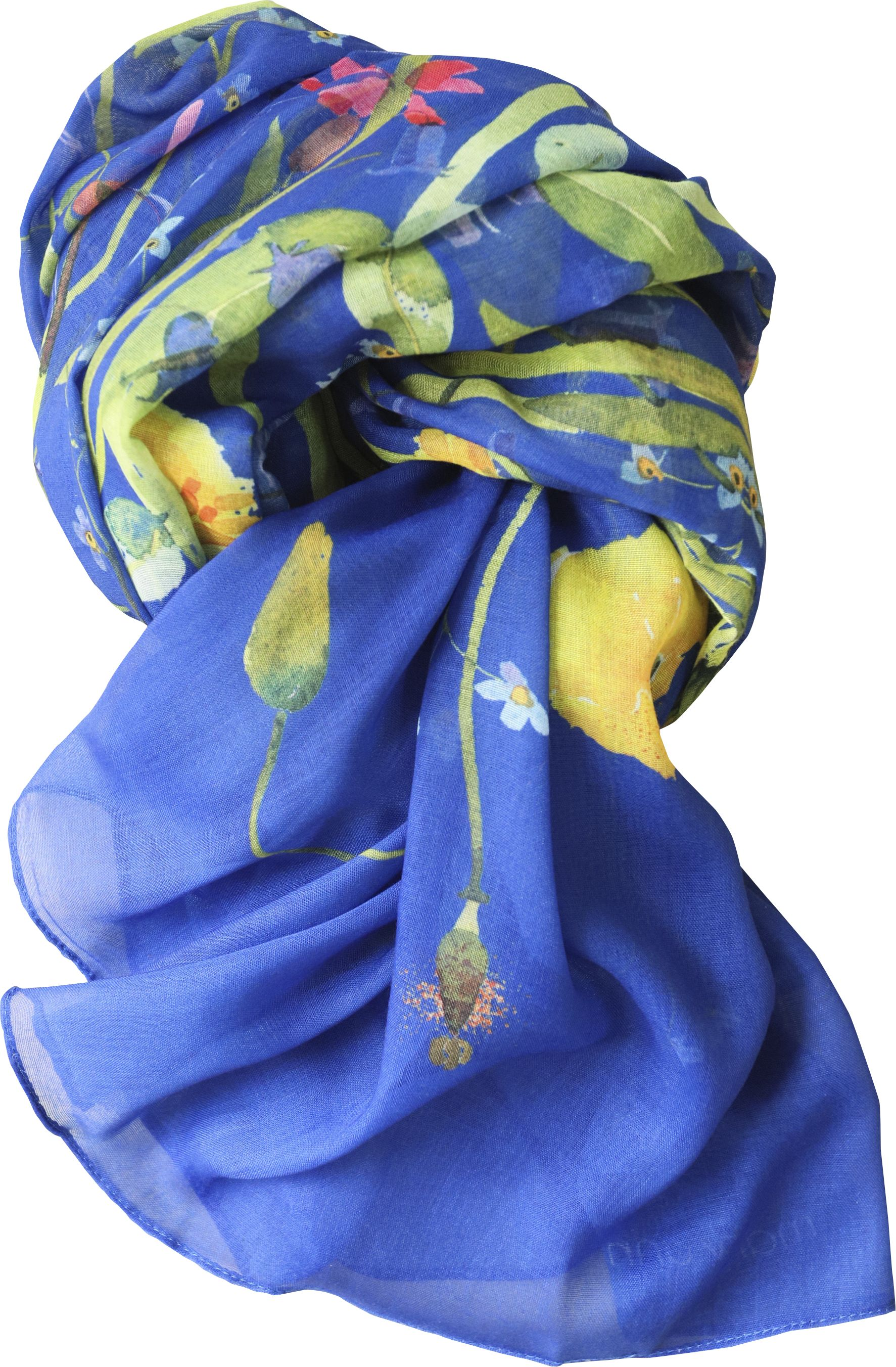 Casual Scarf, Blue Flowers NEW! image