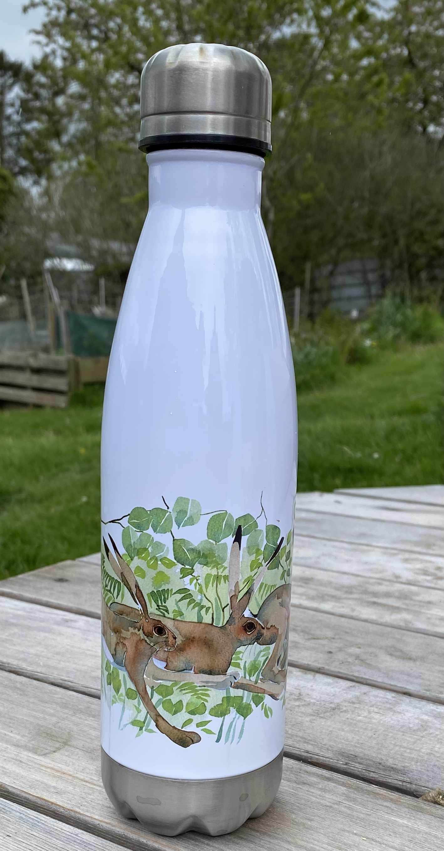 Stainless Steel Drinking Bottle - Hares image