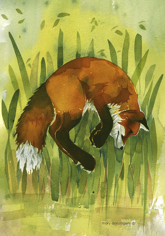 iPhone Case Pouncing Fox image