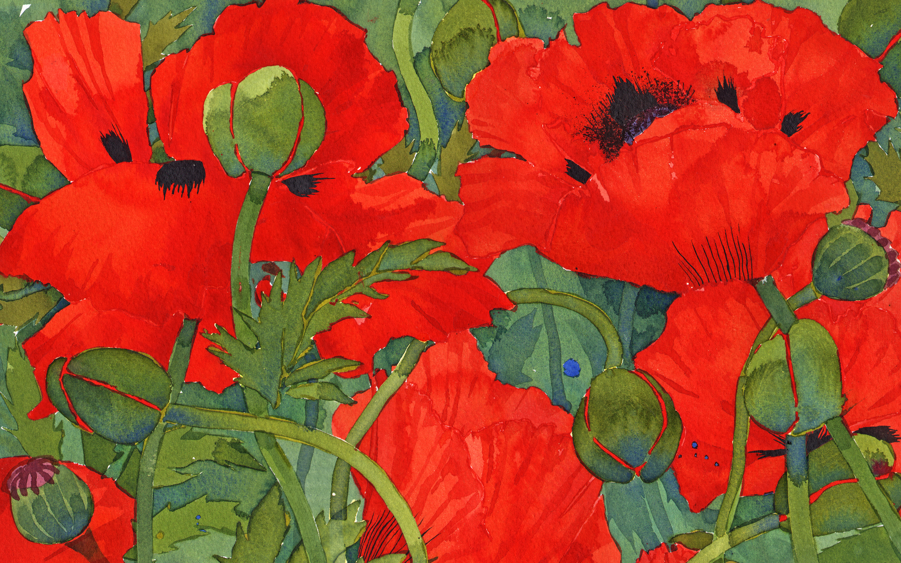 Paper Placemat pads, Poppies image