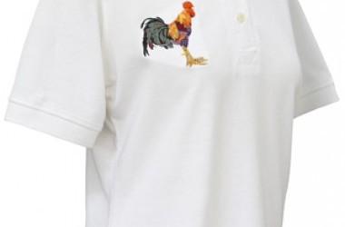 Polo Shirt, Cockerel/Hound Motif art