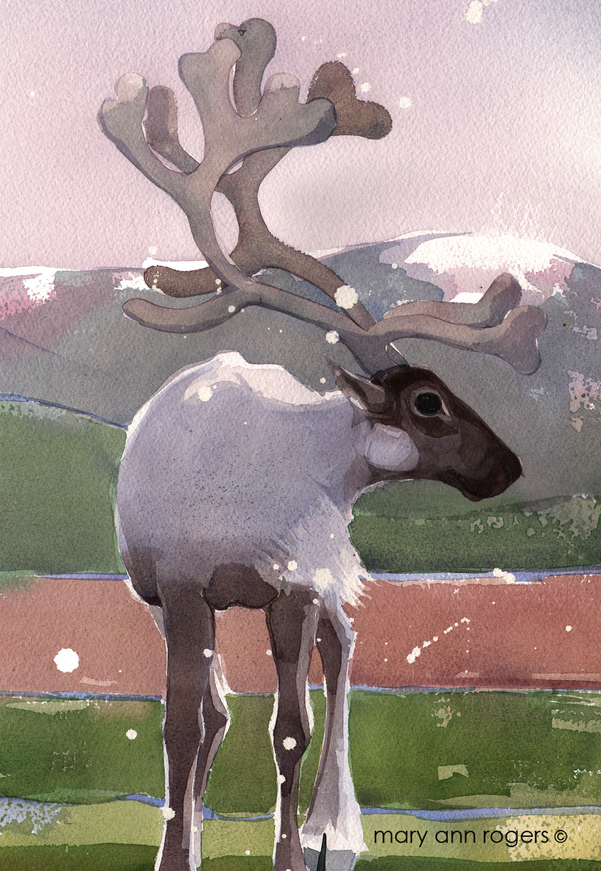 iPad case, Reindeer image
