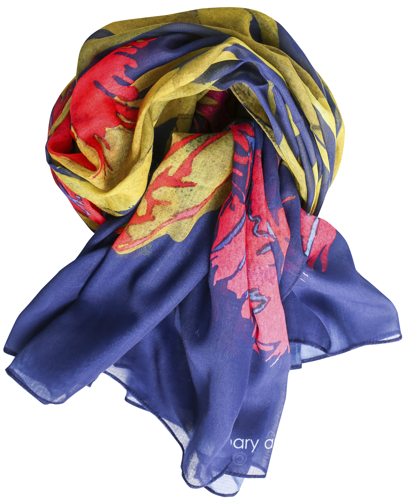 Casual Scarf, Black Parrot Tulips image