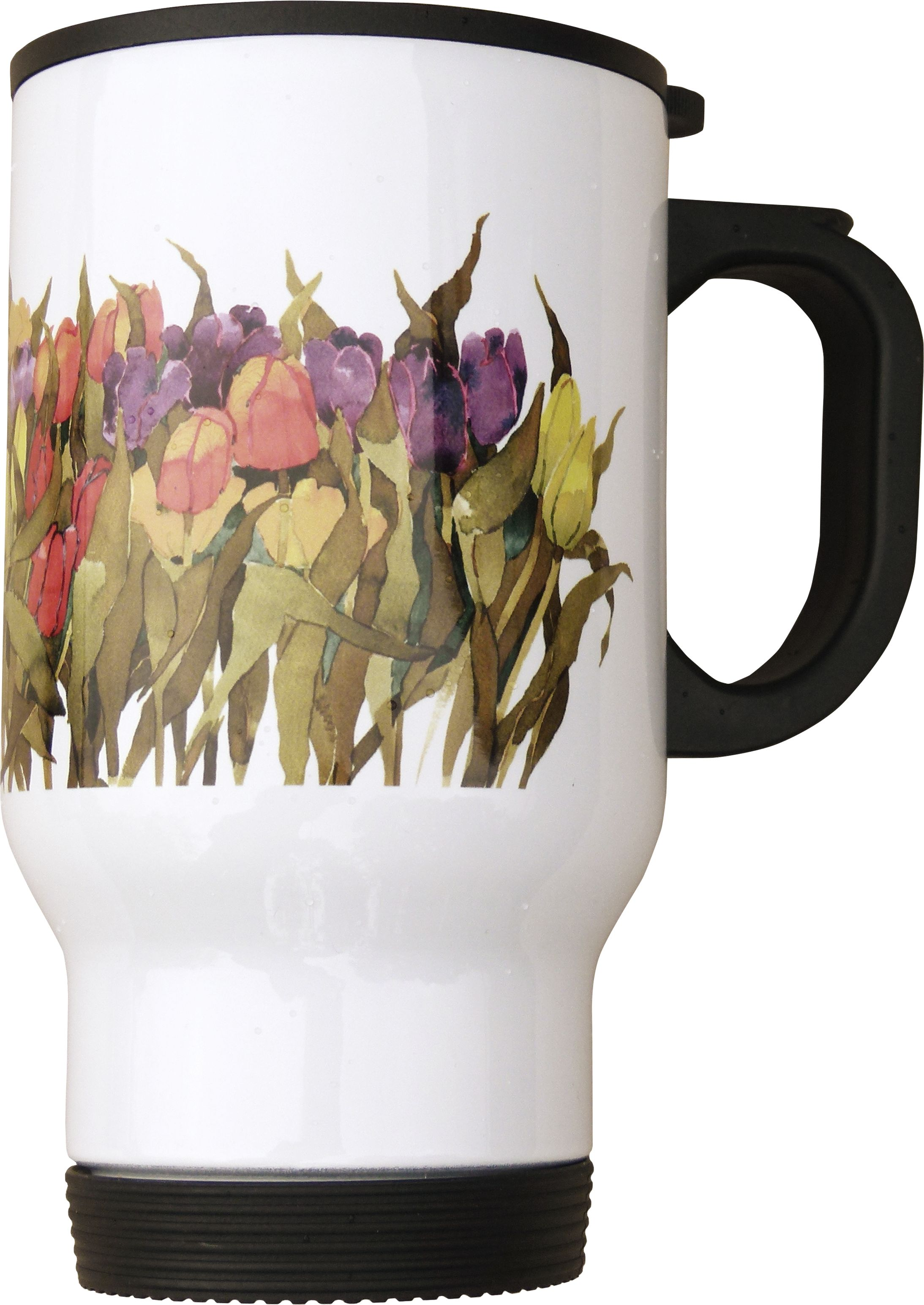 Travel Mug, Tulips image