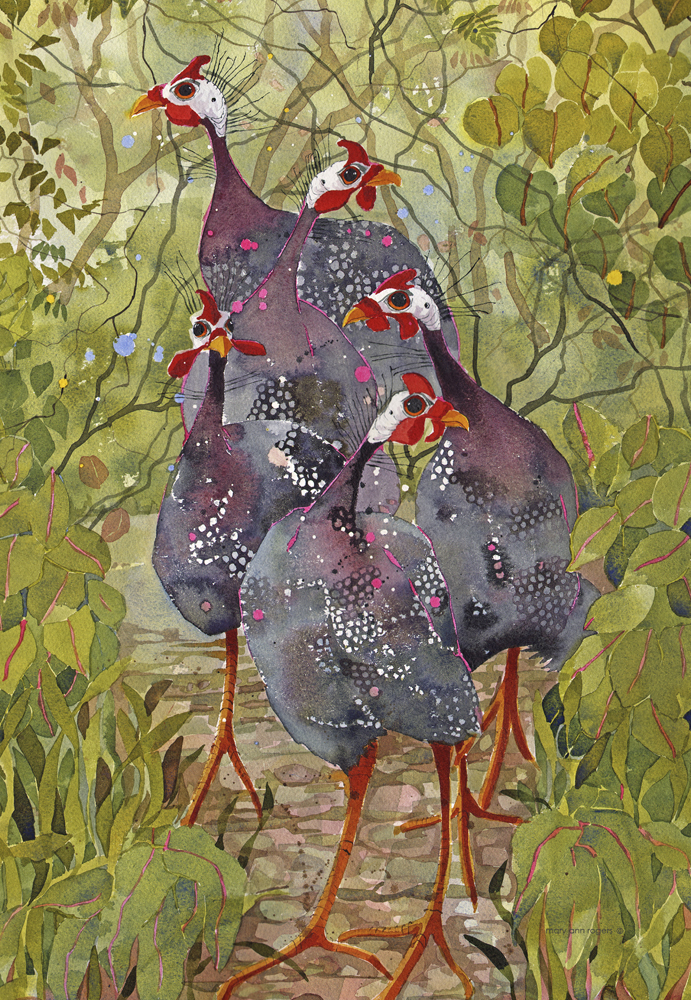 iPad case, Guinea Fowl image